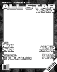 Football All Star Magazine Covers